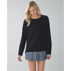 Lulu Post Savasana Pullover Black Cashmere Sweater